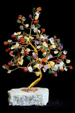 Mixed Crystal Tree - (Large) 160 Stones