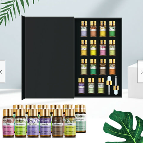A set of 15 Essential Oils - Size 5ml each (100% Pure)