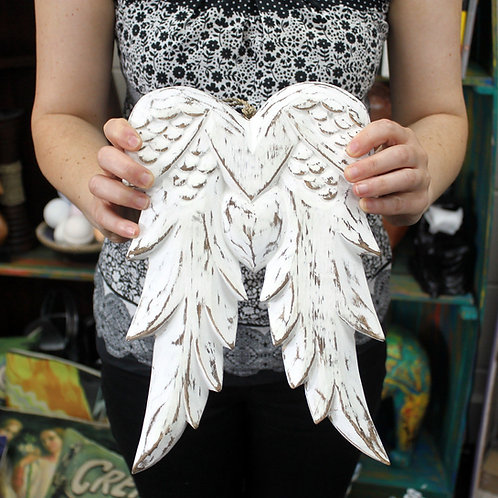 Double Angel Wings - Wooden - Handmade and hand crafted - 31cm