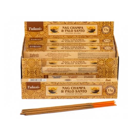 Tulasi Palo Santo Nag Champa Incense Sticks 15gm - (approx. 15 sticks)