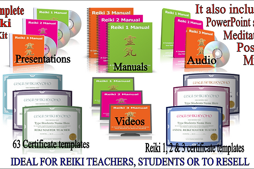 Reiki Business complete teaching kit - ALL Reiki Level 1, 2 and 3 Master/Teacher