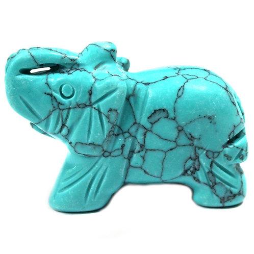 Crystal Elephant - Turquoise size 2 x 4 x 3 (cm)