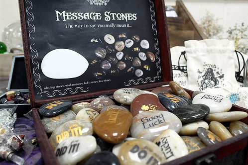 Message Stones - Hand engraved natural river stones