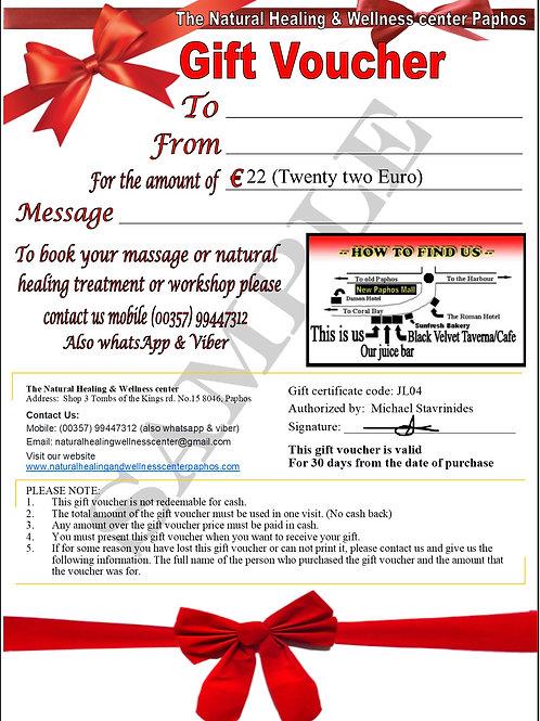 €22 Gift voucher