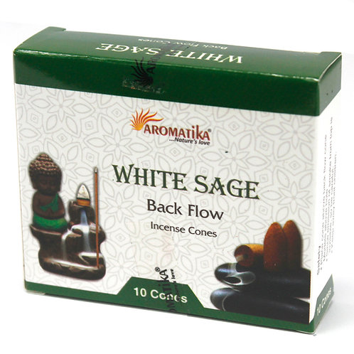 White Sage Aromatica Backflow Incense Cones