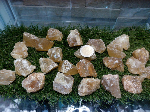 Calcite Citrine Crystal - Size 20mm x 30mm