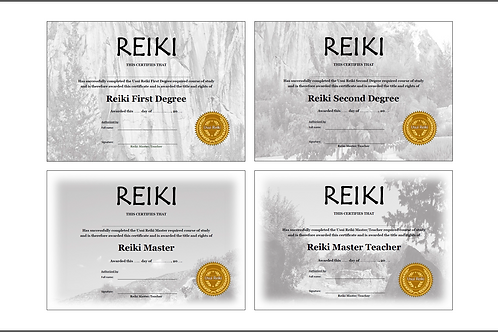 32 x Reiki Certificate templates - Professionally designed and Ready to Print