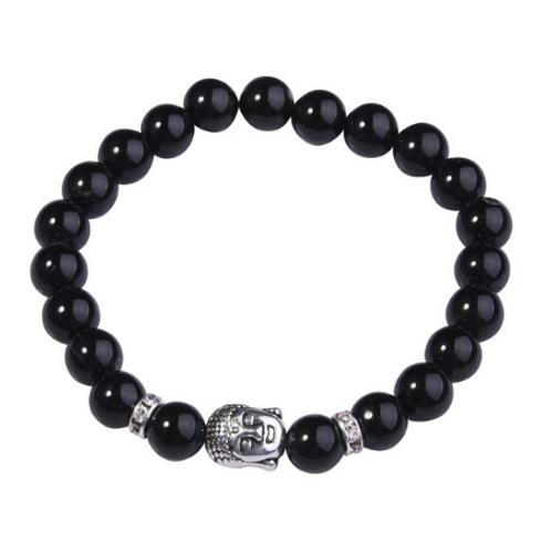Black Onyx Crystal Buddha bracelet