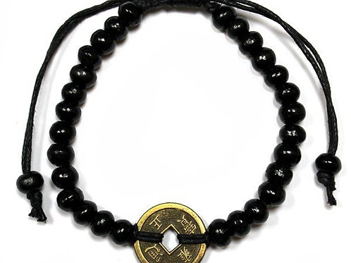 Good Luck Feng Shui Bracelet - Black - Made in Bali