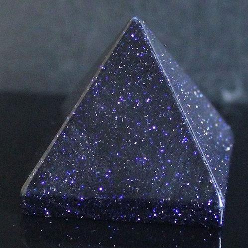 Blue Sand Stone Crystal Pyramid - Size 40mm x 40mm x 40mm