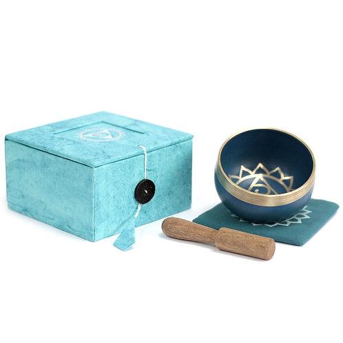 Throat Chakra Singing Bowl Gift Set - Size 8x8x5 (cm)