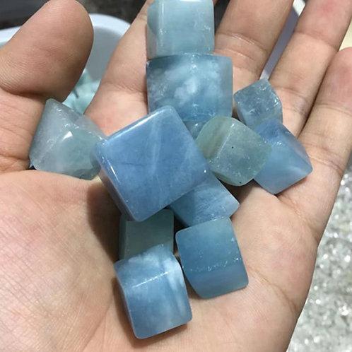 Aquamarine - Tumble stone (Gemstone) - Large size approx. 10mm - 20mm