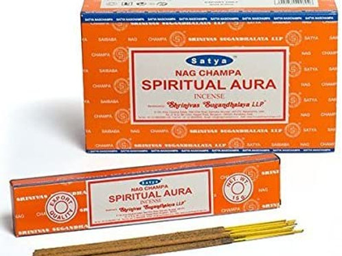 Satya Nag Champa Incense Sticks - Spiritual Aura 15gm