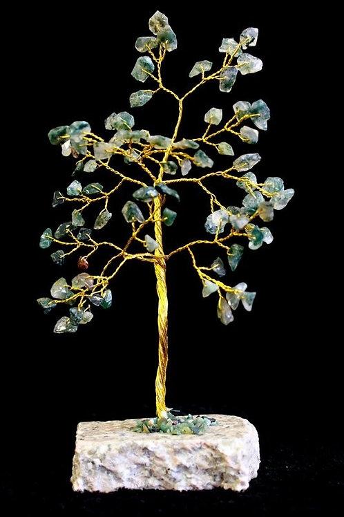 Moss Agate Crystal Tree - (Medium) 80 Stones