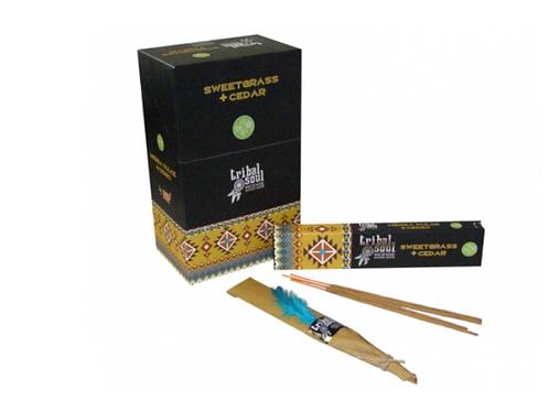 Tribal Soul Incense Sticks - Sweet Grass and Cedar - 15g.
