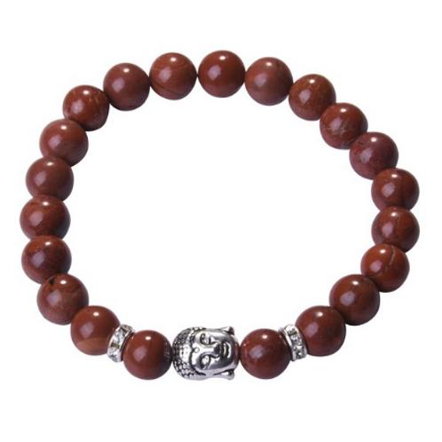 Red jasper Crystal Buddha bracelet
