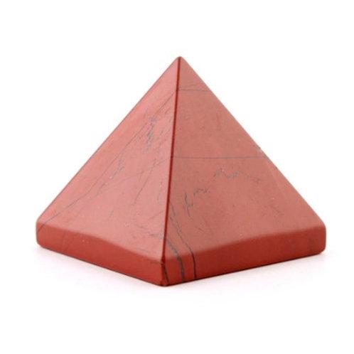 Red Jasper Crystal Healing Pyramids size 40mm x 40mm x 40mm