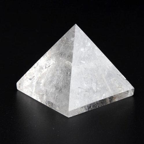 Clear Quartz Crystal Pyramid - Size 40mm x 40mm x 40mm