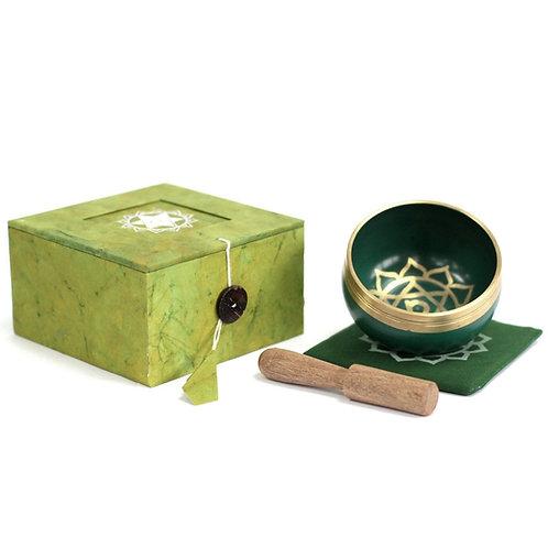 Heart Chakra Singing Bowl Gift Set - Size 8x8x5 (cm)