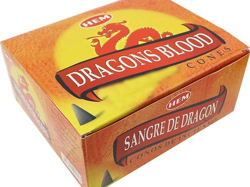 Dragon Blood - HEM Incense Cones - 10 cones