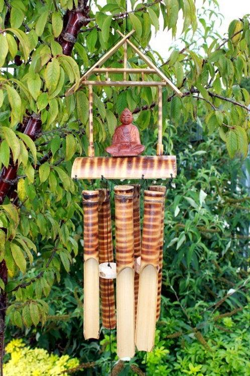 Buddha Bamboo Wind Chime - (Size 63x25x17 cm)