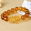 Thumbnail: Feng Shui Yellow Crystal Pi Yao (Pi Xiu) Bracelet For Wealth - 10mm bead