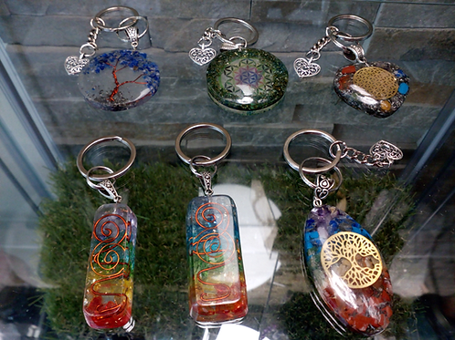 Orgonite Keyrings - Choose from 6 types