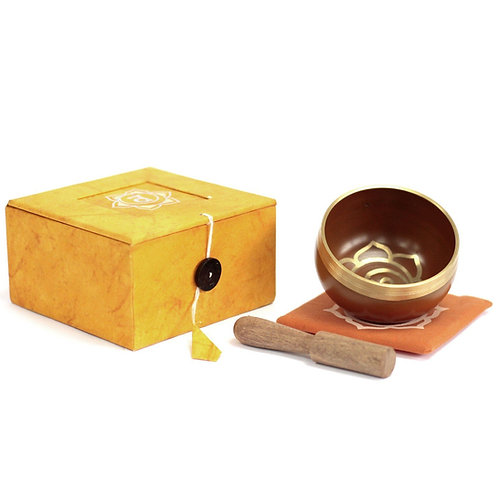 Sacral Chakra Singing Bowl Gift Set - Size 8x8x5 (cm)