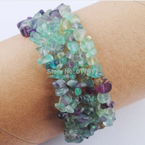 Natural Fluorite crystal bracelet