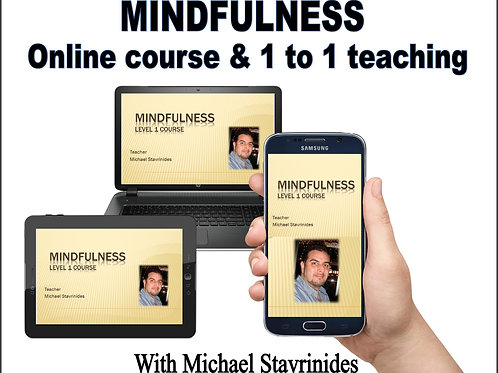 Mindfulness 1 to 1 online teaching and course - Gold package