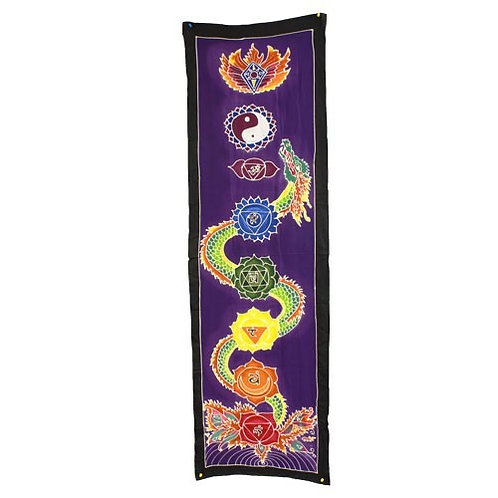 "Wall art - Chakra Drop banner ""Dragon"" (Size 175cm x 53cm)"