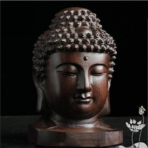 Wooden Buddha Head Statue – Size 4 x 4 x 6 (cm)