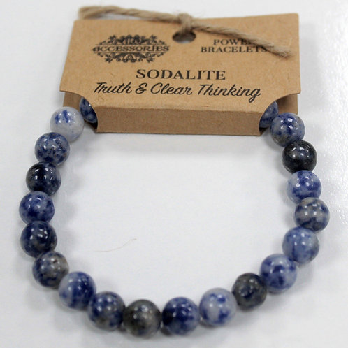 Power Bracelet - Sodalite For Truth andClear Thinking
