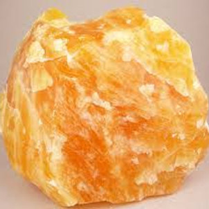 Calcite (Orange) - Rough (Gemstone) - Size approx. 35mm x 40mm