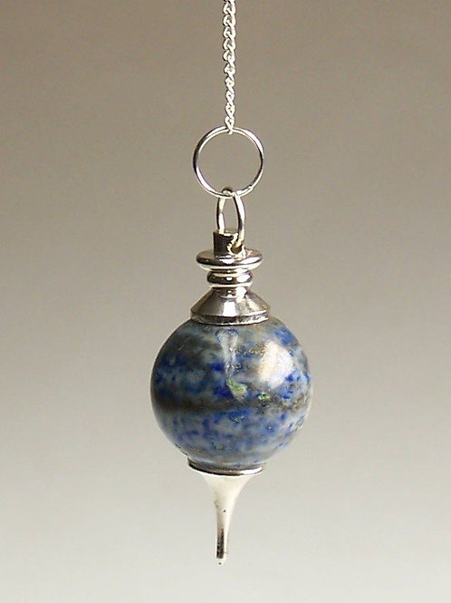 Sphere Pendulums - Lapis lazuli Crystal - with chain
