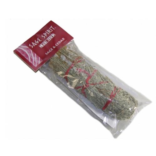 Smudge Stick - Sage and Cedar- Size Length 17.5cm
