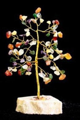 Mixed Crystal Tree - (Medium) 80 Stones