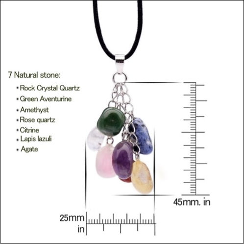 7 Chakra Crystal Pendant with necklace
