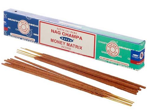 Satya Incense Sticks - Nag Champa and Money Matrix - 15g