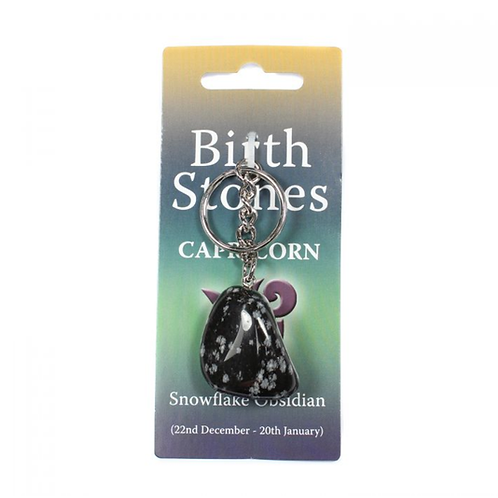 CAPRICORN Birthstone Keyring - (Crystal)