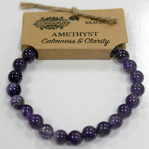 Power Bracelet - Amethyst - For Calmness and Clarity