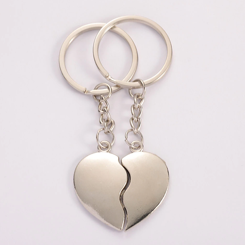 1 Pair of Couples Heart shaped keyrings