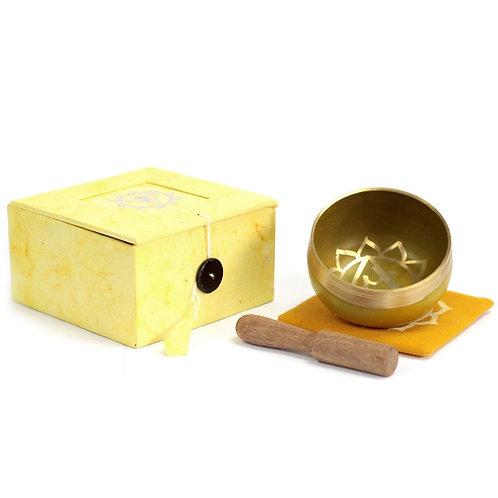 Solar Plexus Chakra Singing Bowl Gift Set - Size 8x8x5 (cm)