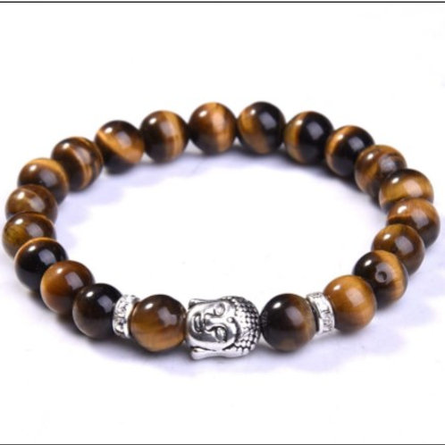 Tiger Eye Crystal Buddha bracelet