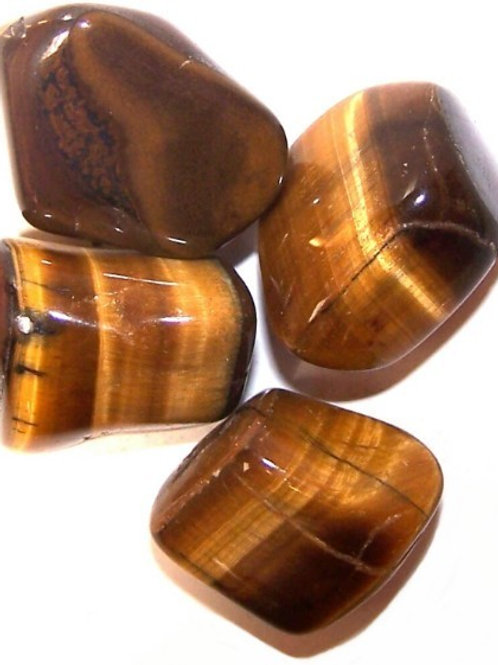 Tiger Eye - Gold - Tumble stone (Gemstone) - Large size approx. 20mm - 30mm
