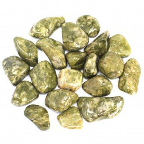 Epidote - Snowflake - African Crystal Tumbled - Large size approx. 20mm - 30mm