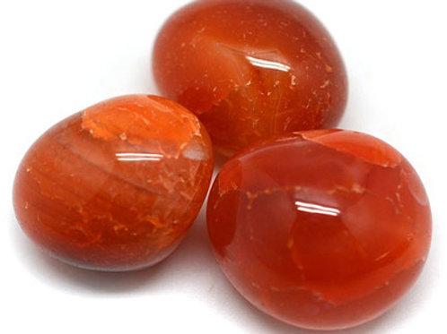 Carnelian - Tumble stone (Gemstone) - Size approx. 10mm - 40mm