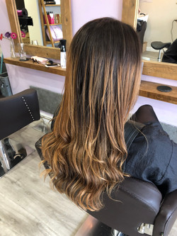 colour cut and blow dry