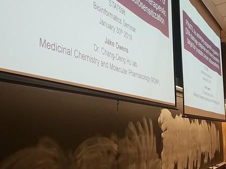Jake teaches STAT598 bioinformatics seminar