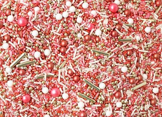 Sprinkle Pop- Vintage Rose Gold Sprinkle Mix
